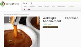 Screenshot CoffeeXperts.nl