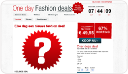 Screenshot Onedayfashiondeals.nl